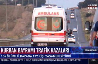 Kurban bayramı trafik kazaları