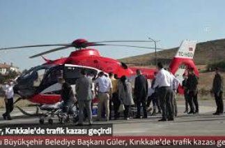 Ordu Büyükşehir Belediye Başkanı Hilmi Güler, Kırıkkale'de trafik kazası geçirdi