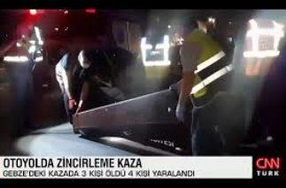 TEM Otoyolu Gebze kesimi feci zincirleme kaza: 3 ölü