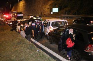 TEM Otoyolu İstanbul İstikametinde Zincirleme Trafik Kazası