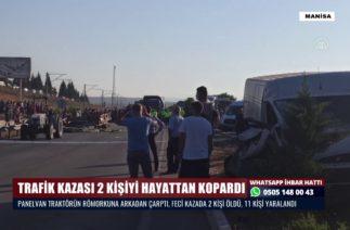 TRAFİK KAZASI 2 KİŞİYİ HAYATTAN KOPARDI