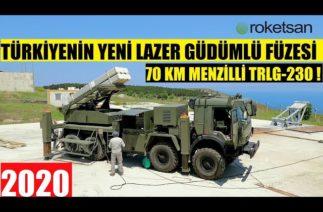 TÜRKİYENİN YEPYENİ LAZER GÜDÜMLÜ FÜZESİ ROKETSAN TRLG-230 ! 70 KM MENZİLDEN HEDEFİ MIHLADI !