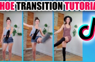 TikTok Shoe Kick Outfit Change Transition TUTORIAL – Step By Step