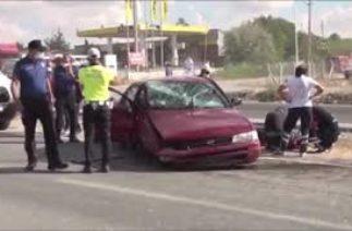 Yerköy'de trafik kazası