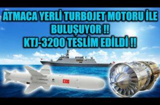 ATMACA YERLİ TURBOJET MOTORU İLE BULUŞUYOR !! YERLİ TURBOJET MOTORU KTJ-3200 TESLİM EDİLDİ !!