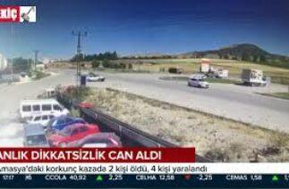 Amasya'daki Korkunç Trafik Kazası 2 Ölü 10.08.2020 TURKEY