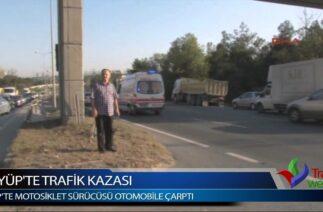 Eyüp'te Trafik Kazası