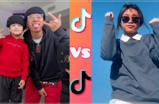 Justmaiko vs Hannah tiktok dance battle compilation