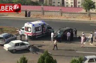 Kahramanmaraş'ta kavşakta trafik kazası
