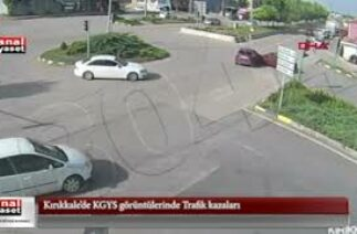 Kırıkkale'de KGYS görüntülerinde Trafik kazaları