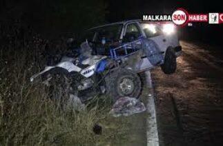 Malkarada trafik kazası 1 kişi ağır yaralandı