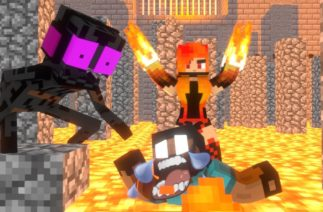 Monster School – FLOOR IS LAVA FUNNY CHALLENGE – Minecraft Animation