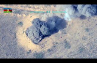 Sabah saatlerinde tahrip edilen Ermeni askeri araçlarının görüntüleri