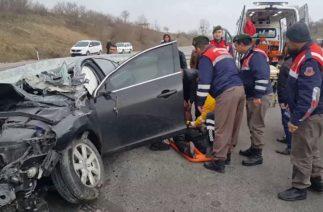 Sakarya Karasu yolu Sinanoğlu mevkiinde trafik kazası Volvo Kazası