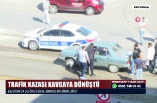 TRAFİK KAZASI KAVGAYA DÖNÜŞTÜ