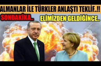 #sondakika TÜRKLER İLE ALMANLAR TEKRAR GÖRÜŞTÜ UYARDILAR..!!
