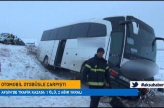Afşin'de Trafik Kazası: 1 ölü, 2 ağır yaralı
