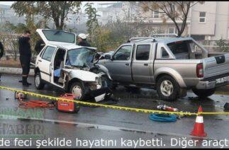 Akhisar'da feci trafik kazası; 1 kişi öldü 2 kişi yaralandı