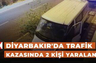 Diyarbakır'da trafik kazasında 2 kişi yaralandı