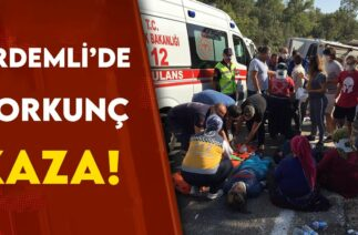 ERDEMLİ'DE KORKUNÇ TRAFİK KAZASI!