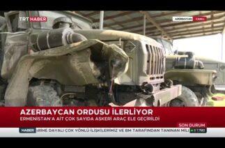 Ermenistan'ın askeri araçları Azerbaycan'ın elinde