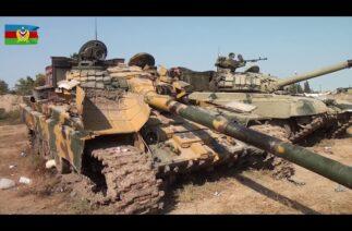 Ermenistan'ın imha edilen tankları görüntülendi