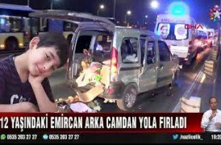 Haliç Köprüsü'nde feci kaza! Araçtan yola fırlayan çocuk …