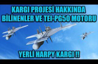 KARGI PROJESİ HAKKINDA BİLİNENLER VE TEI-PG50 MOTORU !! YERLİ HARPY KARGI !!