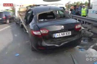 Kartal'da dün meydana gelen kaza, trafik kameralarına yansıdı.