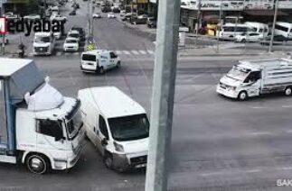 Kaza görüntüleri kameralara yansıdı