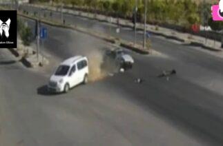 Van'da feci trafik kazaları kamerada!!!