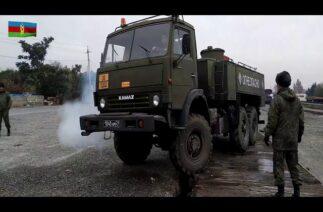 """Azerbaycan Savunma Bakanlığı yayınladı: Rus """"barış"""" gücünün Karabağ'daki faaliyetleri devam ediyor"""