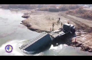 Özbek Ordusu, Siri Derya (Seyhun) Nehri üzerine 2 saat içinde köprü kurdu