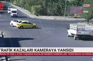 TRAFİK KAZALARI KAMERAYA YANSIDI