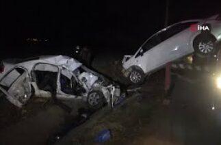 Tokat Zile'de canlı yayın yaparken meydana gelen kaza anı … 2 ölü