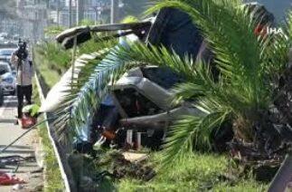 Trabzon'da trafik kazası; 1 ölü, 4 yaralı