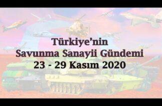 Türkiye'nin savunma sanayii gündemi 23 – 29 Kasım 2020