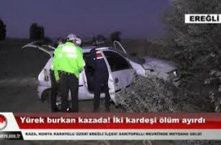 Yürek burkan kazada! İki kardeşi ölüm ayırdı