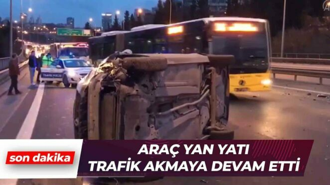 15 Temmuz Şehitler Köprüsü'nde Kaza | Son Dakika Haber