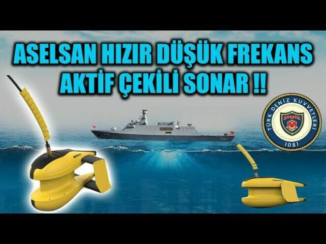 ASELSAN HIZIR DÜŞÜK FREKANS AKTİF ÇEKİLİ SONAR !!