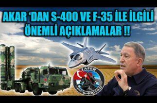 HULUSİ AKAR 'DAN S-400 VE F-35 İLE İLGİLİ ÖNEMLİ AÇIKLAMALAR !!
