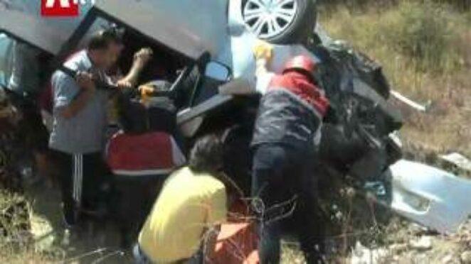 İzmir Yolu Pamukçu Mevkiinde Trafik Kazası..