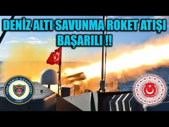 MSB : DENİZ ALTI SAVUNMA ROKET ATIŞI BAŞARILI !!