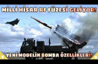 Milli Hisar RF Füzesi Geliyor! Füze Avcısı Yeni Hava Savunma Füzemizin Özellikleri
