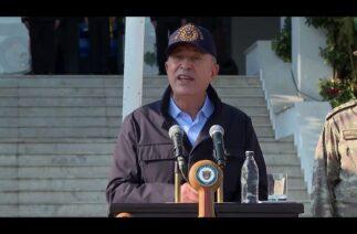 "Milli Savunma Bakanı Hulusi Akar, ""komşu"" Yunanistan'a tepki gösterdi"