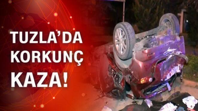 Otomobil peş peşe kazalar yaptı 3 yaralı