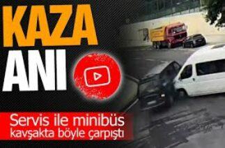 Sakarya'daki trafik kazaları kameralara yansıdı