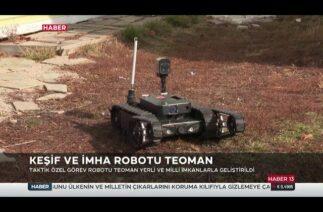 Silahlı Taktik Robot Teoman'ın özellikleri