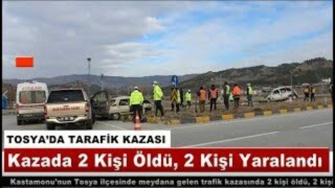 TOSYA'DA TARAFİK KAZASI 2 ÖLÜ, 2 YARALI