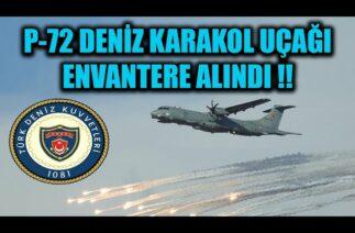 TÜRK DONANMASI İLK P-72 DENİZ KARAKOL UÇAĞINI ENVANTERE ALDI !!